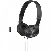 Sony MDRZX310APB Folding Stereo Headphones with Smartphone Mic & Control Metallic Black