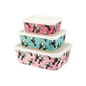 Sass & Belle Tiki Toucan Bamboo Lunch Boxes (Set of 3)