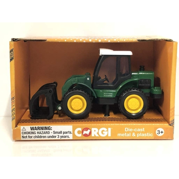 Corgi Chunkies Farm Tractor With Clamp Diecast Toy