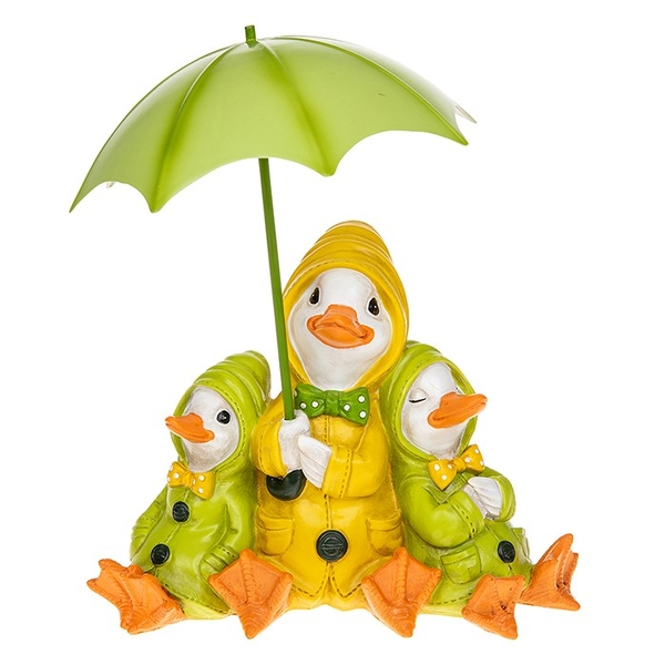 Puddle Duck Family With Brolly Ornament