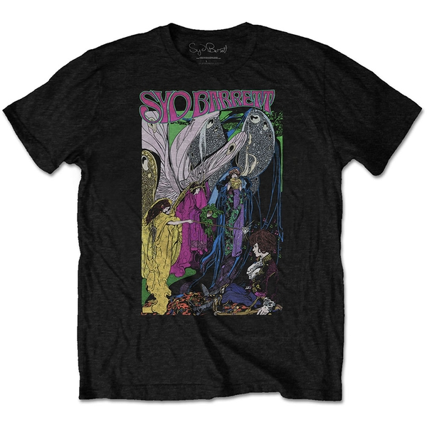 Syd Barrett - Fairies Men's Large T-Shirt - Black