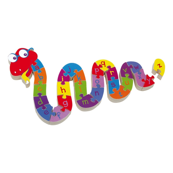 Legler - Small Foot ABC Snake Wooden Plug Puzzle Kid's Toy (Multi-colour)