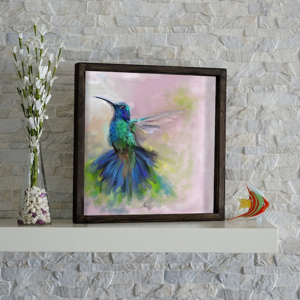 KZM204 Multicolor Decorative Framed MDF Painting