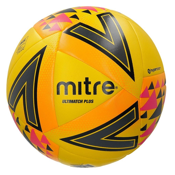 Mitre Ultimatch Plus Match Ball Yellow Size 3