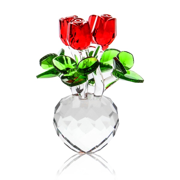 Crystal Roses Ornament | M&W - Image 1