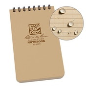 Rite In The Rain Universal Notebook, Top Spiral Bound 3 x 5 Inch - Tan