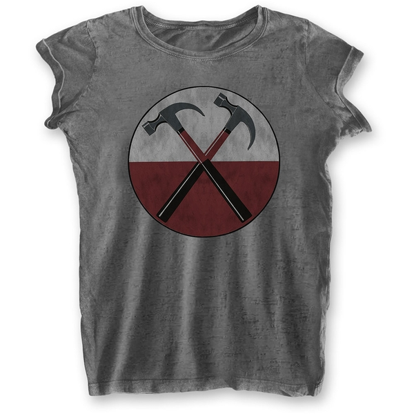 Pink Floyd - The Wall Hammers Ladies Large T-Shirt - Grey