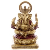 Gold and Red 14cm Ganesh Statue
