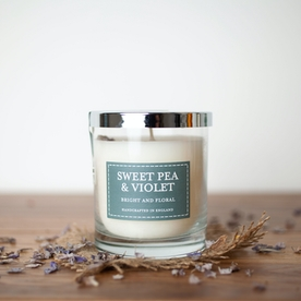 Sweet Pea & Violet (Pastel Collection) Glass Candle