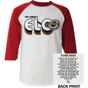 ELO - 2018 Tour Logo Men's Small Raglan T-Shirt - White