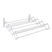 Wall Mounted Extendable Clothes Airer White | Pukkr