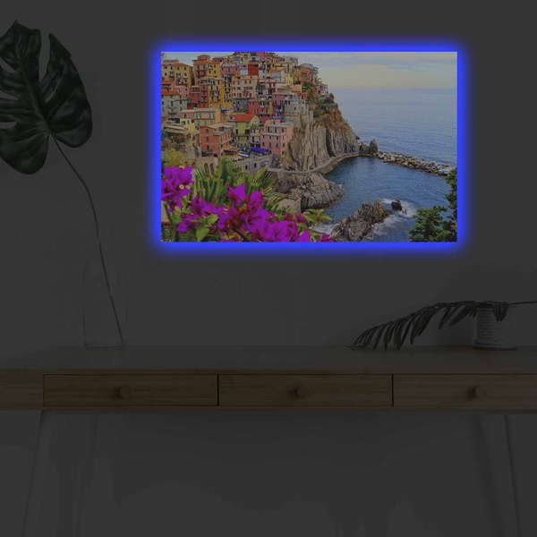 4570DHDACT-017 Multicolor Decorative Led Lighted Canvas Painting