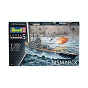 Battleship Bismarck Ship (Revell) 1:350 Scale Level 5 Model Kit