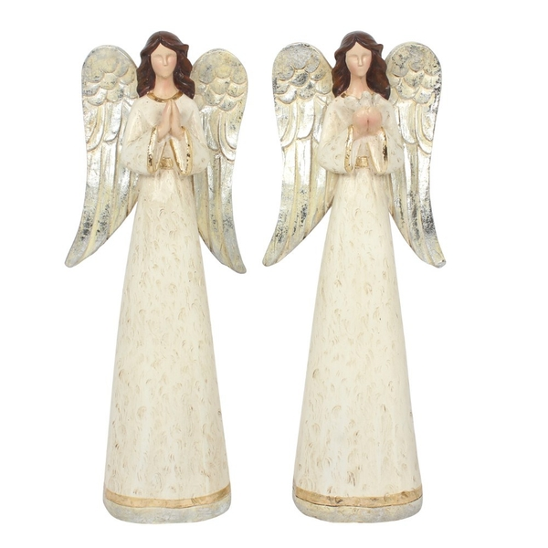 Set of 2 Medium Angel Ornaments