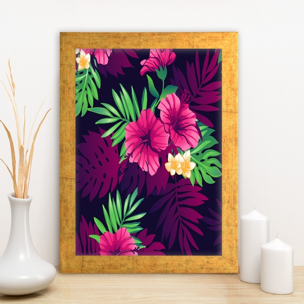 AC3906320656 Multicolor Decorative Framed MDF Painting