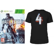 Battlefield 4 Game (Includes China Rising DLC) + BF4 Black T-Shirt in Large Xbox 360
