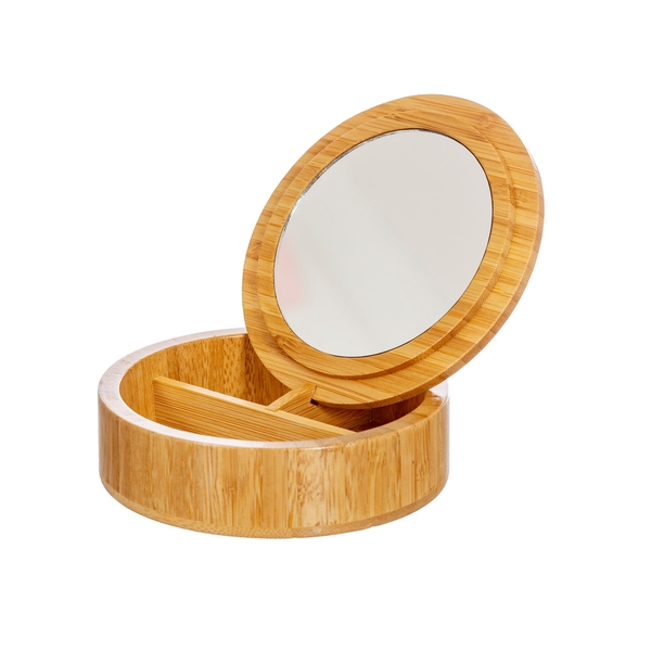 Sass & Belle Round Bamboo Jewellery Box