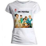 One Direction Up All Night Skinny White T-Shirt X Large