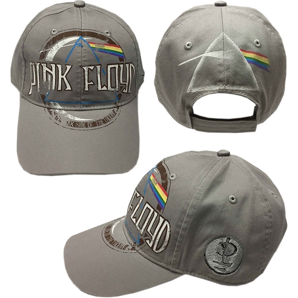 Pink Floyd - Dark Side of the Moon Album Distressed Men's Baseball Cap - Grey