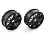 1:8 Multi Sp Wheels Black X 2