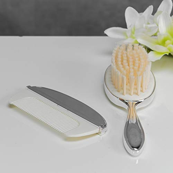 Bambino Baby Silver Plated Brush & Comb Set