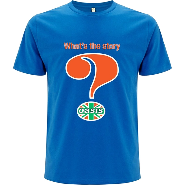 Oasis - Question Mark Unisex Small T-Shirt - Blue