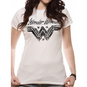 Wonder Woman Movie - Ink Effect Women's X-Large T-Shirt - White