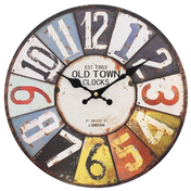 Retro Number Wall Clock