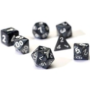 Sirius Dice - Pearl Charcoal Grey Poly Set