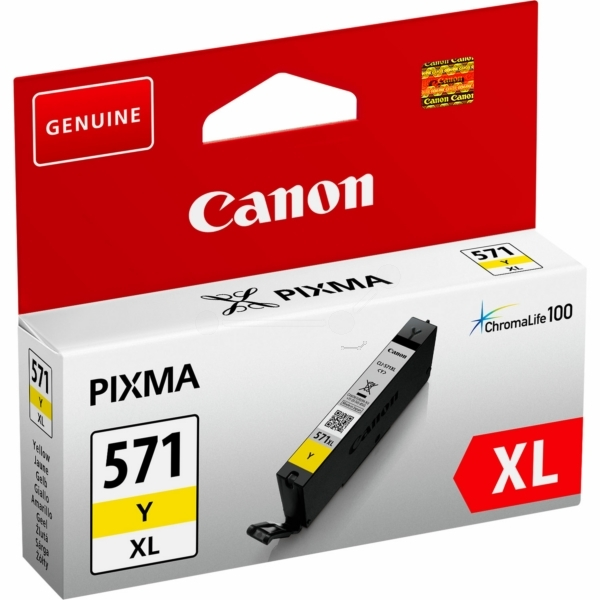Canon 0334C001 (571 YXL) Ink cartridge yellow, 680 pages, 11ml