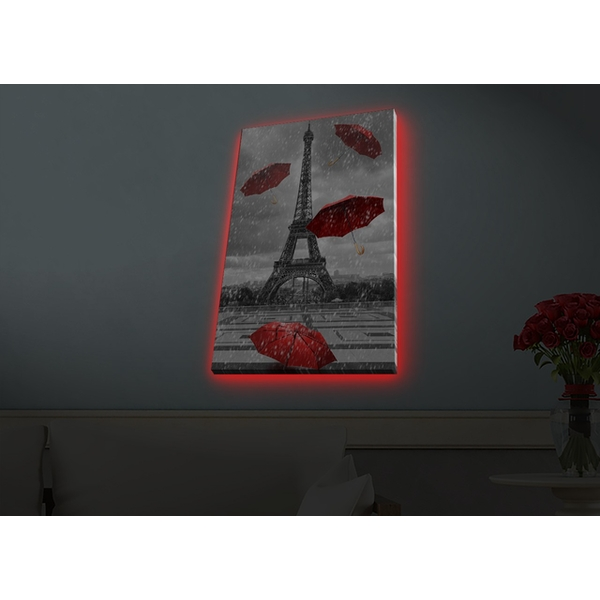 4570HDACT-073 Multicolor Decorative Led Lighted Canvas Painting