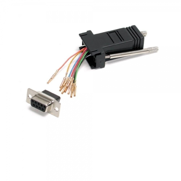 DB9 to RJ45 Modular Adapter - F/F