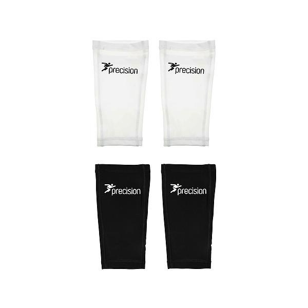 Precision Pro Matrix Shinguard Sleeves White/Black Small