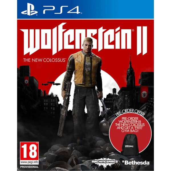 Wolfenstein II The New Colossus PS4 Game (with Wolfenstein 2 Gym Bag) - Image 1