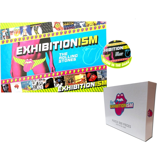 The Rolling Stones - Exhibitionism Glow In The Dark Jigsaw Puzzle - 500 Pieces