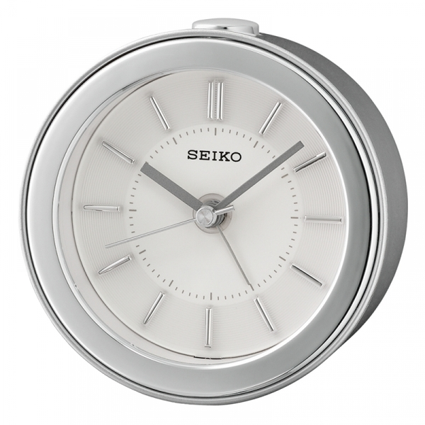 Seiko QHE156S Beep Alarm Clock with LED Flashing Alarm Silver