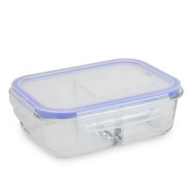 Set of 4 Meal Prep Containers | Compartments | M&W 3 Compartment