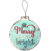 Small Merry & Bright Hanging Tree Decoration