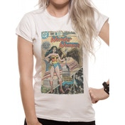 Justice League Comics - Wonder Woman Comic Women's X-Large T-Shirt - White