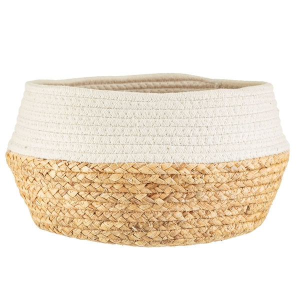 Sass & Belle White Dip Rope & Grass Basket