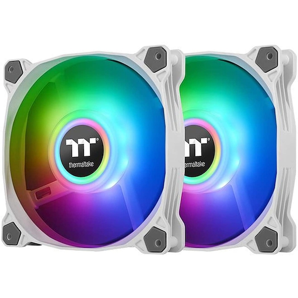 ThermalTake Pure Duo 12 ARGB Sync Twin White Fan Pack - 120mm