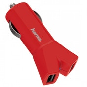 Hama Colour Line 12V Charger 2x USB 3.4 A (Red)