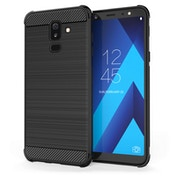 CASEFLEX SAMSUNG GALAXY A6 PLUS (2018) CARBON ANTI FALL TPU CASE - BLACK