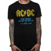AC/DC - For Those About To Rock Logo Men's Large T-Shirt - Black