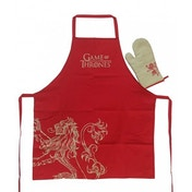 Game Of Thrones Apron and Oven Mitt Set Lannister