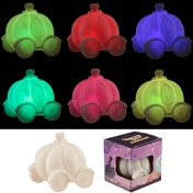 Colour Change Princess Carriage Decorative LED Nightlight