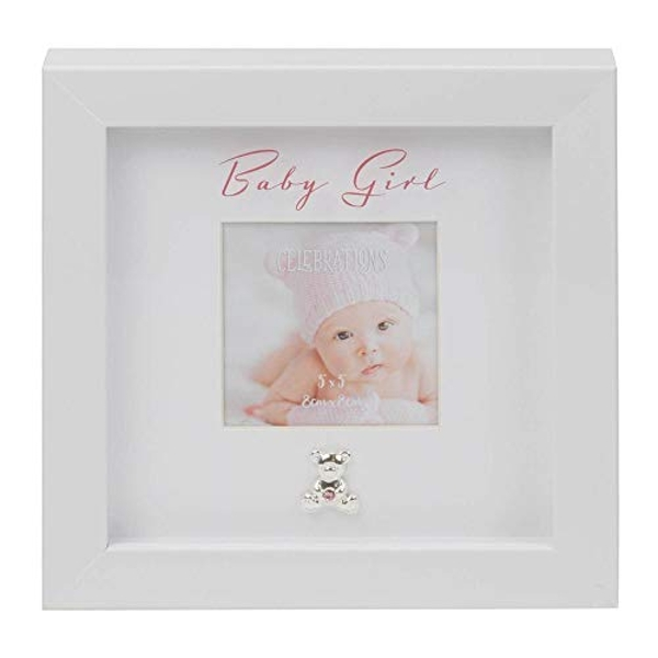 "3"" x 3"" - Baby Girl Box Frame with Engraving Plate"