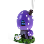 Purple Smoking Toadstool Incense Cone Holder