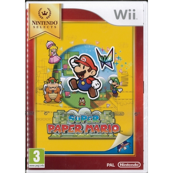 Super Paper Mario Game (Selects) Wii [Damaged]