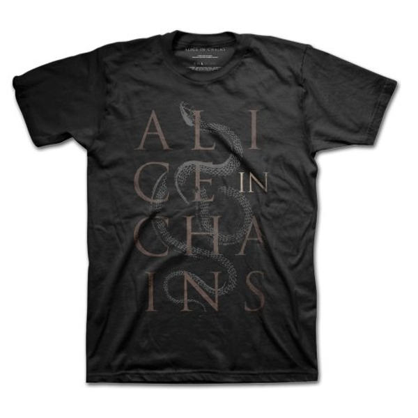 Alice In Chains - Snakes Unisex XX-Large T-Shirt - Black